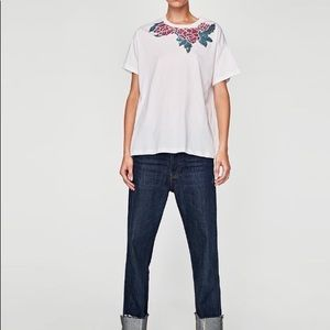NWT Zara Floral T-Shirt / Size S